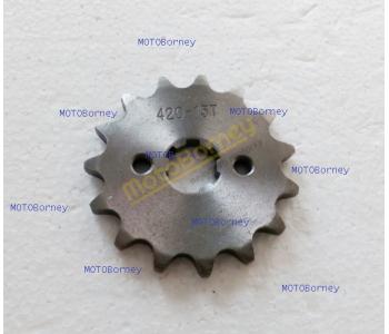 Řetězové kolečko 420 - 15T na pitbike, dirtbike, čtyřkolku