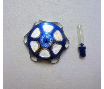 Víčko nádrže, modré