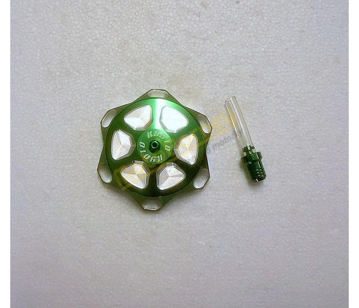 Víčko nádrže, zelené