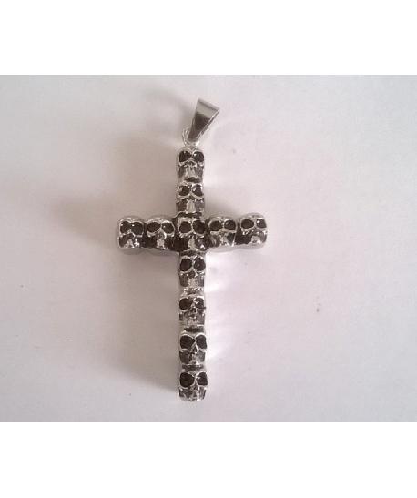 Ocelový přívěšek kříž