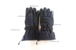 Teplé motorkářské rukavice, černé