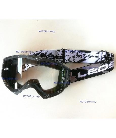 Motokrosové brýle Leoshi, černé
