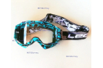 Motokrosové brýle Leoshi, modré