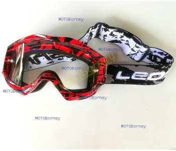 Motokrosové brýle Leoshi, červené