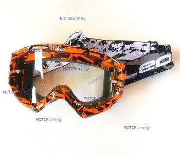 Motokrosové brýle Leoshi, oranžové