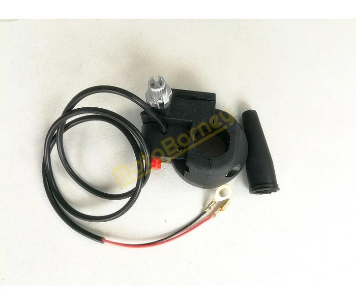 Objímka a vypínač motoru na minibike, minicros, čtyřkolky