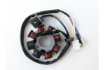 Stator zapalování na skútr :   8 cívek   vnější průměr 88 mm   vnitřní průměr 29 mm   rozteč děr 41 mm