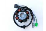 Stator zapalování na skútr, čínský motocykl:   8 cívek   vnější průměr 88 mm   vnitřní průměr 29 mm   rozteč děr 41 mm   Porovnejte s obrázkem !!!