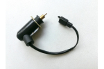 Elektrický sytič karburátoru na ATV, skútr 2T:   2 piny   rozteč 30 mm   průměr jehly 2 mm   průměr válečku (ventilu) 8mm