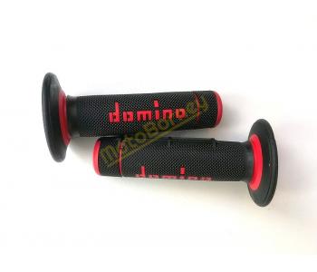 Gripy Domino na motocykl černo-červené