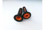 Gripy Domino na motocykl černo-oranžové
