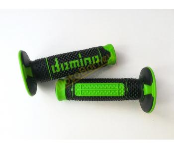 Gripy Domino na motocykl černo-zelené