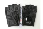 Kožené bezprsté rukavice vhodné na motocykl, skútr