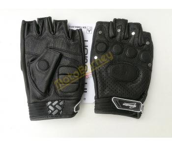 Bezprsté kožené motorkářské rukavice