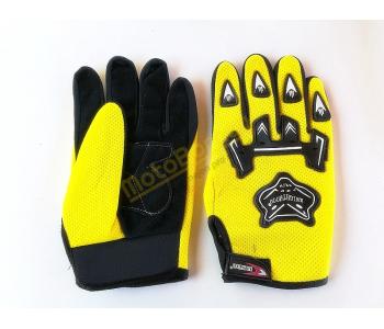 Textilní motorkářské rukavice, vel. XL