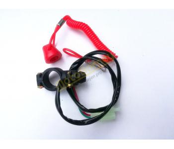 Trhací pojistka a vypínač motoru na minibike, minicros, čtyřkolku
