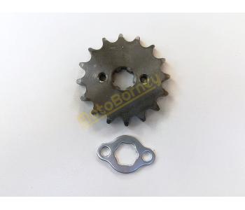Řetězové kolečko 428 - 16T + pojistka na pitbike, dirtbike, čtyřkolku, motocykl